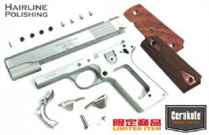 Guarder Aluminum Kit with Altamont Wood Grip for MARUI MEU .45 - (S.A. TRP/Cerakote/Hairline Polishi
